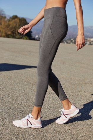 Charcoal Running Technical Leggings