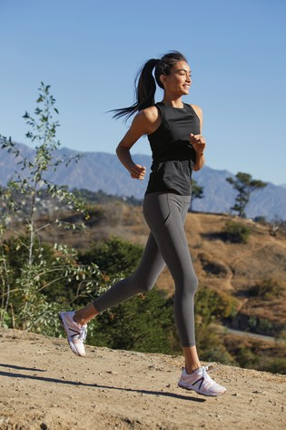 Charcoal Running Technical Leggings