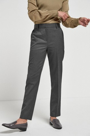 Charcoal Tailored Slim Trousers