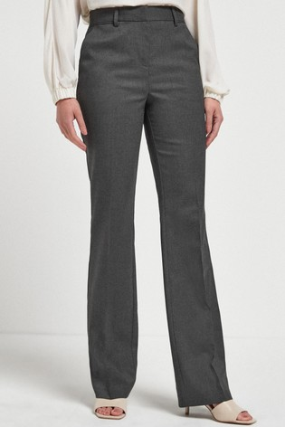 Charcoal Tailored Boot Cut Trousers
