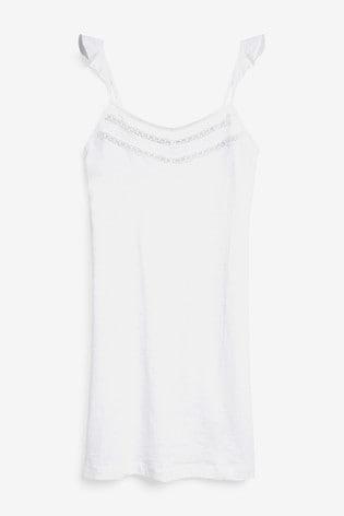 White Organic Cotton Slip