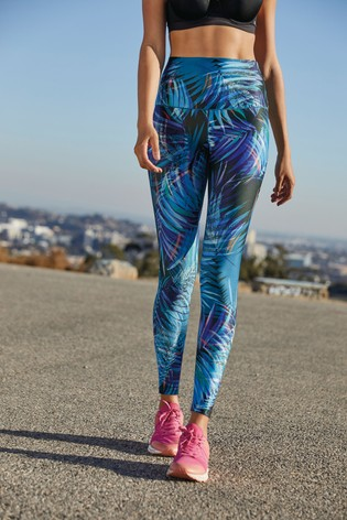 Tropical Print Sculpting Sports Leggings
