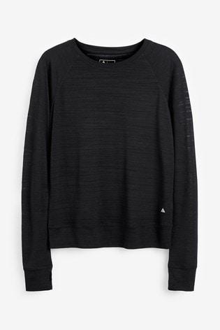 Black Long Sleeve Sports Top