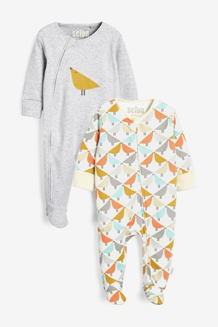 Multi Scion Living At Next Footless Sleepsuits Two Pack (0mths-2yrs)