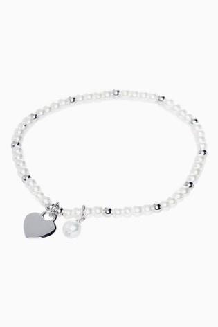 Sterling Silver Freshwater Pearl Beady Bracelet