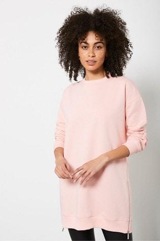 Mint Velvet Orange Long Zip Sweatshirt