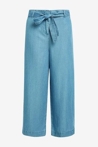 Blue TENCEL™ Culottes