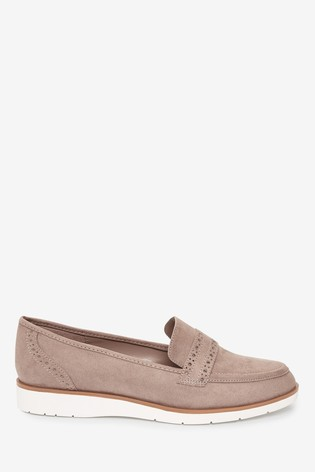 Sand Forever Comfort™ Brogue Detail Chunky Sole Loafers