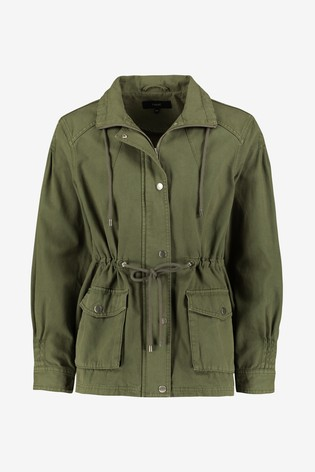 Khaki Funnel Neck Utility Jacket