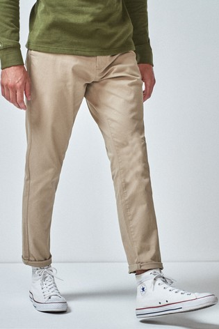 Wheat Tapered Slim Fit Stretch Chinos