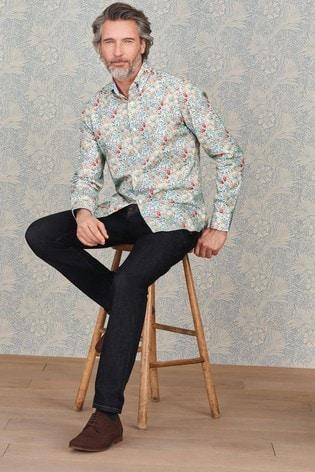 Golden Lily Slim Fit Single Cuff Morris & Co. at Next Signature Print Shirt