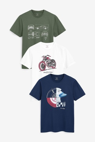 Multi Graphic T-Shirts Three Pack