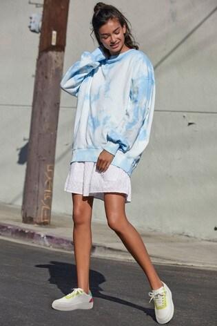 Blue Tie Dye Cotton Tunic