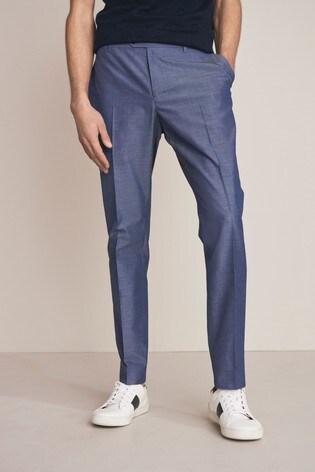 Light Blue Slim Fit Suit: Trousers