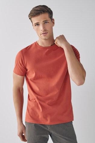 Brick Regular Fit Crew Neck T-Shirt
