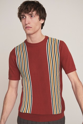 Red Premium Stripe T-Shirt