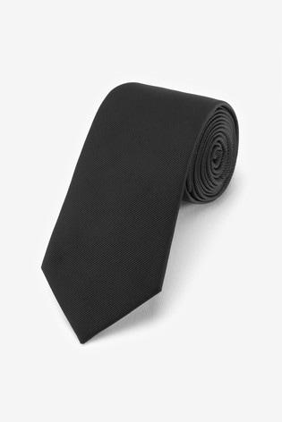 Black Regular Twill Tie