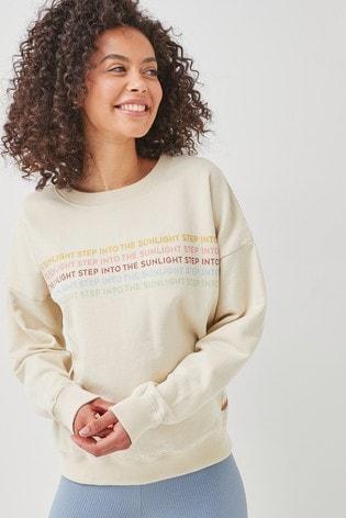Ecru Sunshine Graphic Sweatshirt