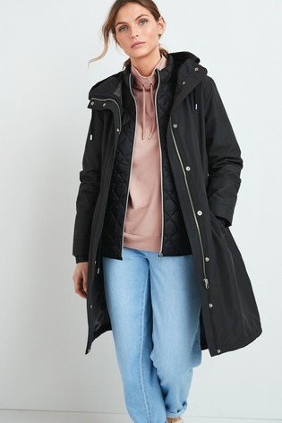 Black Waterproof 2-In-1 Parka