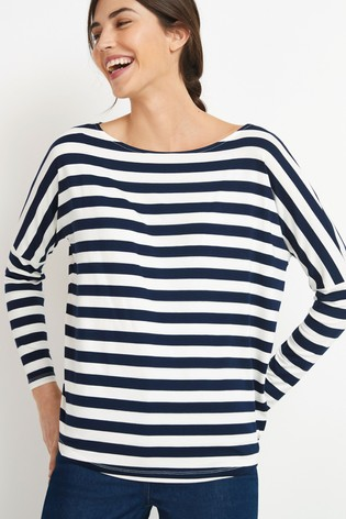 Navy Stripe Dolman Long Sleeve Top