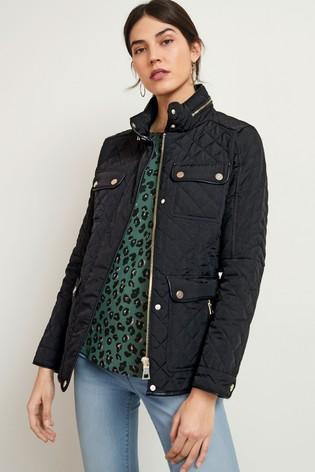 Black Quilted Short Jacket