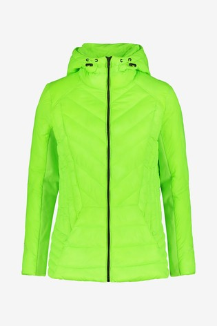 Lime Shower Resistant Hooded Jacket With DuPont™ Sorona® Insulation