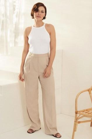 Ecru Emma Willis High Waist Trousers