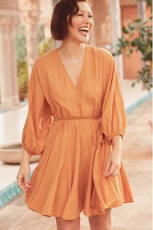 Yellow Emma Willis Godet Dress