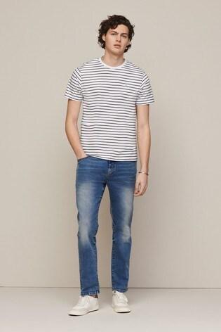 Washed Blue Slim Fit Motion Flex Stretch Jeans