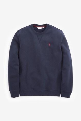 Navy Crew Sweatshirt Jersey