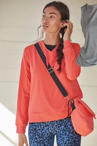 Coral Sporty Across Body Bag