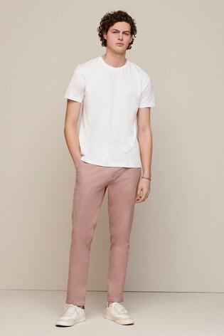 Pink Slim Fit Stretch Chinos