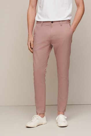 Pink Skinny Fit Stretch Chinos