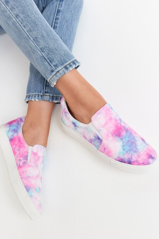 Tie Dye Regular/Wide Fit Forever Comfort® Slip-On Trainers