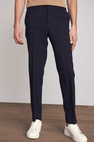 Navy Skinny Fit Motionflex Suit: Trousers