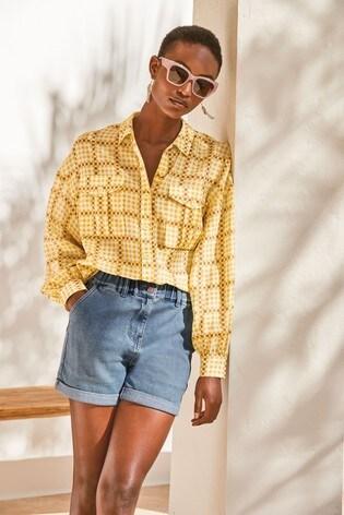 Yellow Check Utility Shirt