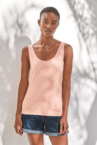 Baby Pink Thick Strap Vest