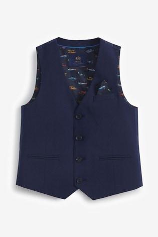 Navy Waistcoat (12mths-16yrs)