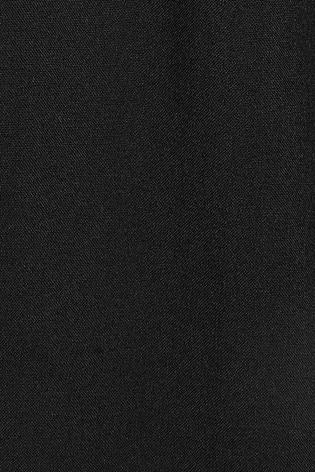 Black Drawstring Stretch Formal Trousers