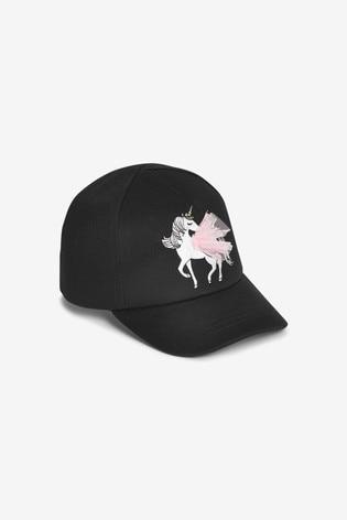 Black 3D Unicorn Cap (3mths-6yrs)