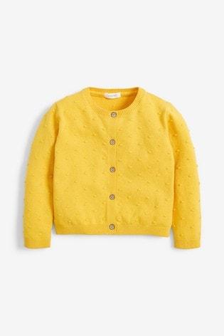 Yellow Bobble Cardigan (3mths-10yrs)