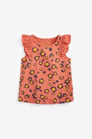 Rust Animal Frill Vest (3mths-8yrs)