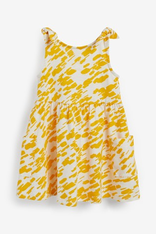 Orange Cotton Bow Strap Dress (3mths-7yrs)