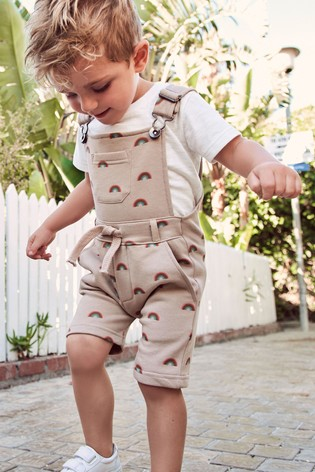 Stone Jersey Short Dungarees And T-Shirt Set (3mths-7yrs)