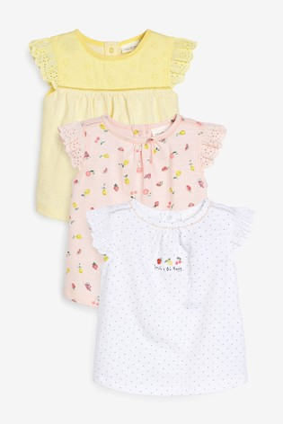 Multi 3 Pack Fruit Print T-Shirts (0mths-3yrs)