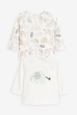 Mint 2 Pack Organic Cotton T-Shirts (0-12mths)