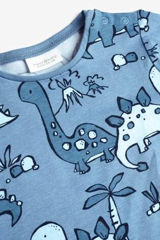 Blue 3 Pack Dinosaur T-Shirts (0mths-3yrs)