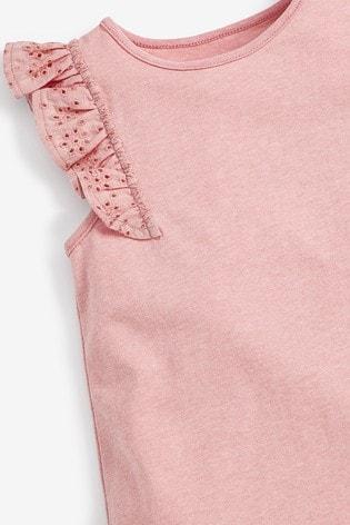 Pink Frill Vest (3mths-8yrs)