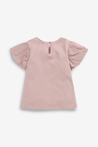 Lilac Cotton Puff Sleeve T-Shirt (3mths-7yrs)