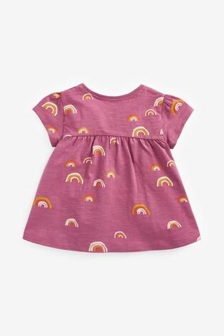 Purple Rainbow Cotton T-Shirt (3mths-7yrs)